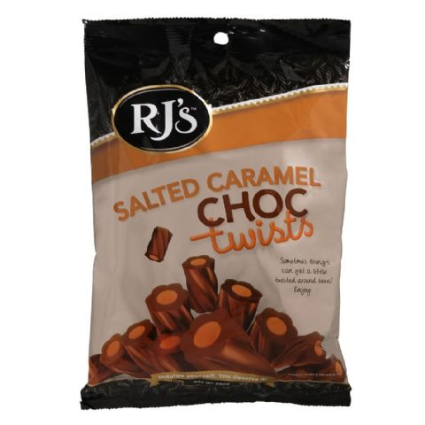 Salted Caramel Chocolate Twists - RJ's Licorice Bag Sweets 280g